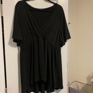 Torrid Size 3 Black Short Sleeved Blouse